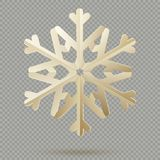 Vintage Christmas decoration paper snowflakes with shadow isolated on transparent background. EPS 10 vector illustration