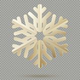 Vintage Christmas decoration paper snowflakes with shadow isolated on transparent background. EPS 10 stock illustration