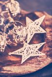 Vintage Christmas decorations stock photography