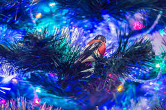 Vintage Christmas decorations on a blurred background. Stock Images