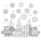 Vintage Christmas decorations and gifts Stock Photography