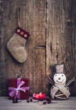 Vintage christmas decorations Stock Image