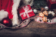 Vintage christmas decorations Royalty Free Stock Images