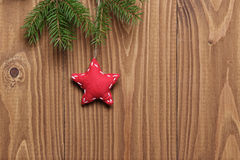 Vintage christmas decorative star hanging Stock Photos