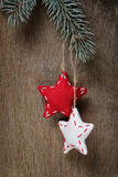 Vintage christmas decorative stars hanging Royalty Free Stock Images