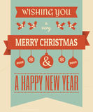 Vintage Christmas Design Stock Images
