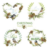 Vintage Christmas Design Elements Royalty Free Stock Photos
