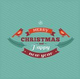 Vintage Christmas design with typography Royalty Free Stock Photos