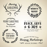 Vintage Christmas Designs Stock Images