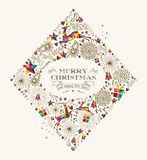 Vintage Christmas diamond greeting card Stock Photo
