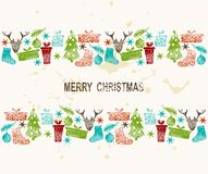 Vintage Christmas elements Stock Photography