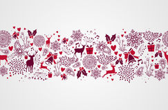 Free Vintage Christmas Elements Seamless Pattern Backgr Stock Photography - 33756752