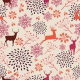 Vintage Christmas elements seamless pattern backgr royalty free illustration