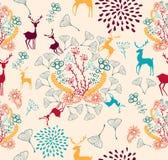 Vintage Christmas elements seamless pattern backgr vector illustration