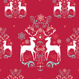 Vintage Christmas elements seamless pattern backgr stock illustration