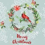 Vintage Christmas elements seamless pattern background Royalty Free Stock Photos