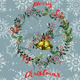 Vintage Christmas elements seamless pattern background Royalty Free Stock Image