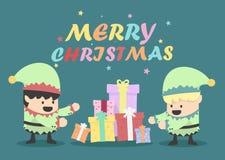 Vintage Christmas eves poster design Illustration Stock Photo