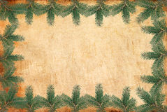 Vintage Christmas frame. A beautiful image of a vintage Christmas frame Stock Photos