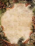 Vintage Christmas Frame Stock Images