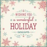Vintage Christmas Frame - Illustration. Vintage Text Frame Square. Vector illustration of Old-Styled Winter Background Royalty Free Stock Photography