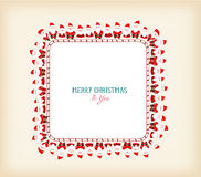 Vintage christmas frame with santa claus Royalty Free Stock Image