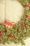 Vintage Christmas Garland Royalty Free Stock Photography