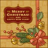 Vintage Christmas Gift Royalty Free Stock Photography