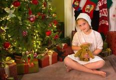 Vintage christmas girl Stock Photography
