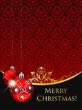 Vintage Christmas greeting Stock Photography