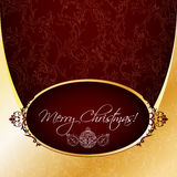 Vintage Christmas greeting Royalty Free Stock Image