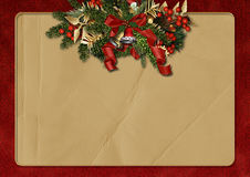 Vintage Christmas greeting background Stock Photography