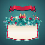Vintage Christmas greeting banner set Royalty Free Stock Images
