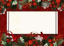 Vintage Christmas greeting card Royalty Free Stock Images
