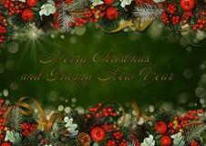Vintage Christmas greeting card Stock Image