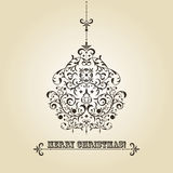 Vintage Christmas Greeting Card Royalty Free Stock Photo