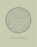 Vintage Christmas greeting card design. Vector illustration. Royalty Free Stock Image