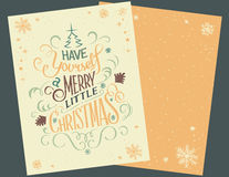 Vintage Christmas greeting card Stock Photos