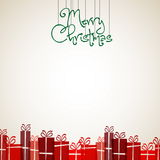 Vintage Christmas Greeting Card - Retro Merry Christmas Stock Photo