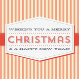 Vintage Christmas Greeting Card. Retro style Christmas card background. Colors are global for easy editing. Download includes zipped AI CS4 file with editable stock illustration