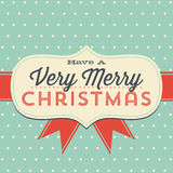 Vintage Christmas Greeting Card Royalty Free Stock Photography