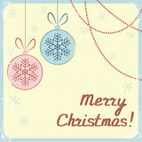 Vintage Christmas greeting card Royalty Free Stock Photos
