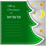 Vintage christmas greeting card Royalty Free Stock Photo