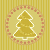 Vintage Christmas greeting card Royalty Free Stock Image
