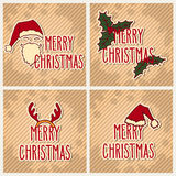 Vintage Christmas greeting cards Royalty Free Stock Image