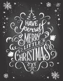 Vintage Christmas greetings on chalkboard Stock Photos