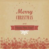 Vintage Christmas and Happy New Year card. Vector  Royalty Free Stock Image