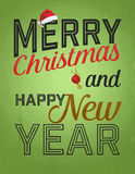 Vintage Christmas and Happy New Year Royalty Free Stock Photos
