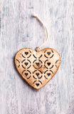 Vintage Christmas heart decoration Royalty Free Stock Images