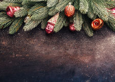 Vintage Christmas holidays background Stock Photo